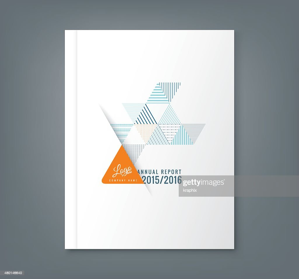 Abstract triangle stripe shape background for annual report book cover