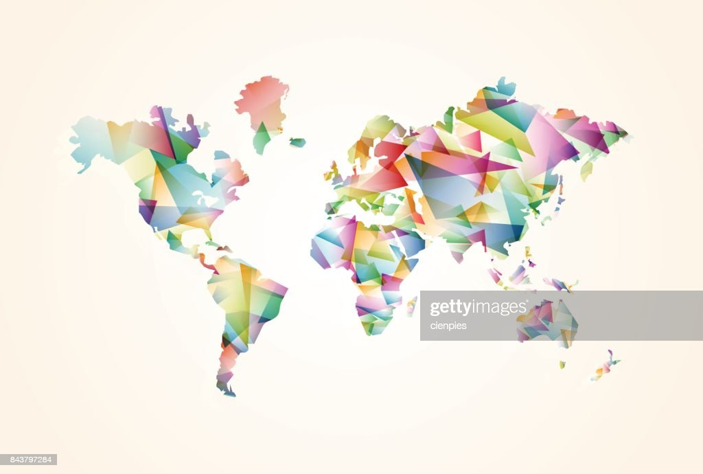 Abstract triangle world map concept illustration vector art getty abstract triangle world map concept illustration vector art gumiabroncs Image collections