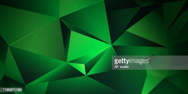 abstrakter dreieckiger hintergrund - kristalle stock-grafiken, -clipart, -cartoons und -symbole