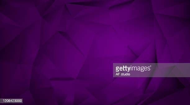 abstract triangular background - purple background stock illustrations