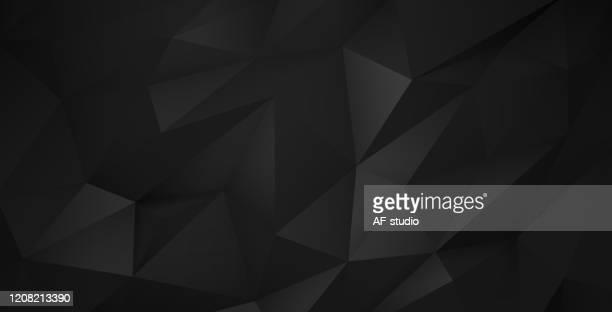 abstrakter dreieckiger hintergrund - schwarzer hintergrund stock-grafiken, -clipart, -cartoons und -symbole