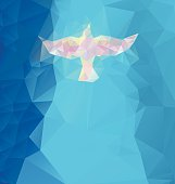 Abstract triangular design forming a dove