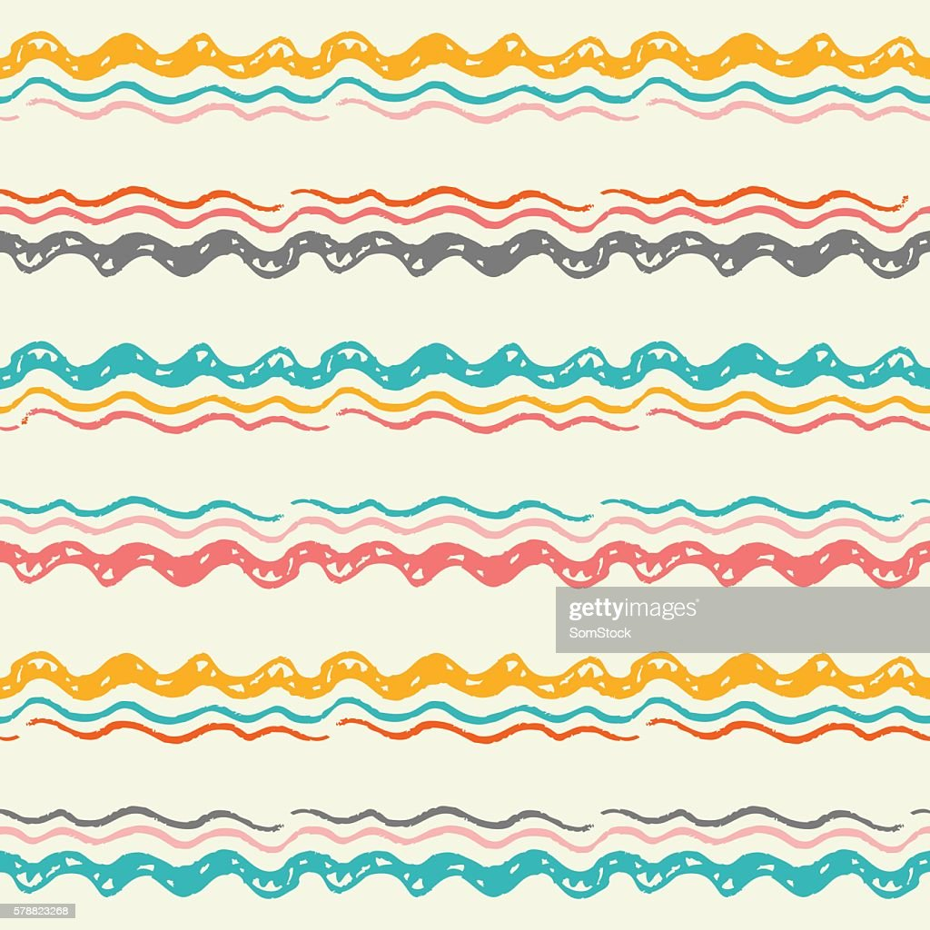 Abstract Tribal seamless pattern.