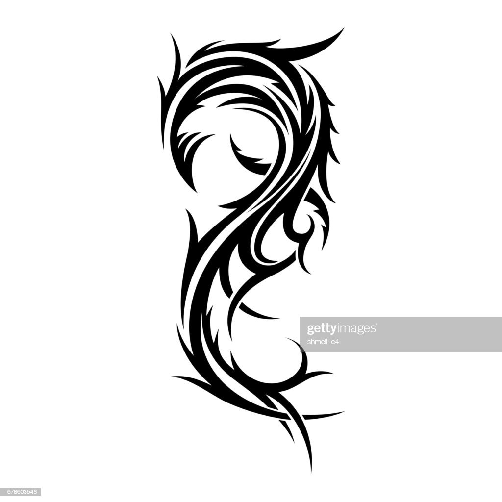 Abstract tribal tattoo design template.