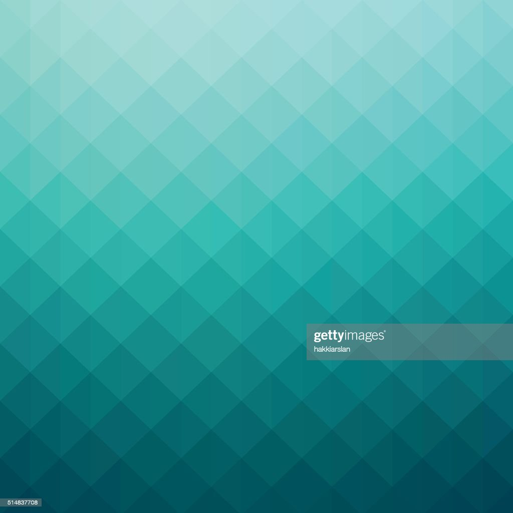 Abstract turquoise colored gradient art geometric background