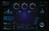 abstract UI hud interface futuristic data processing screen template background