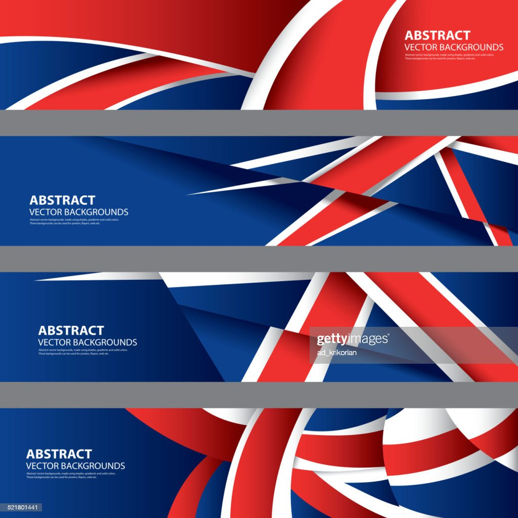Abstract UK Background, English Flag (Vector Art)