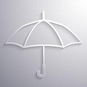 Abstract umbrella paper icon