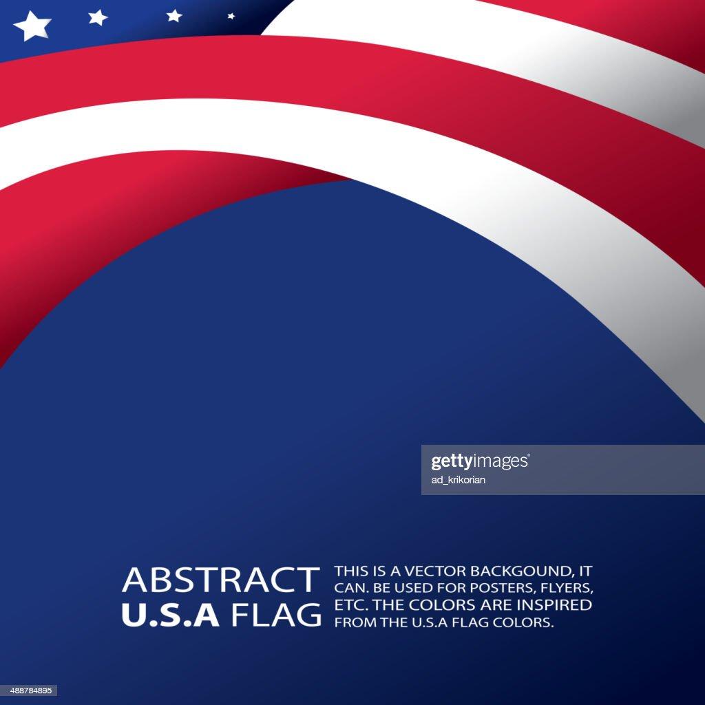 Abstract USA, American Flag (vector Art)