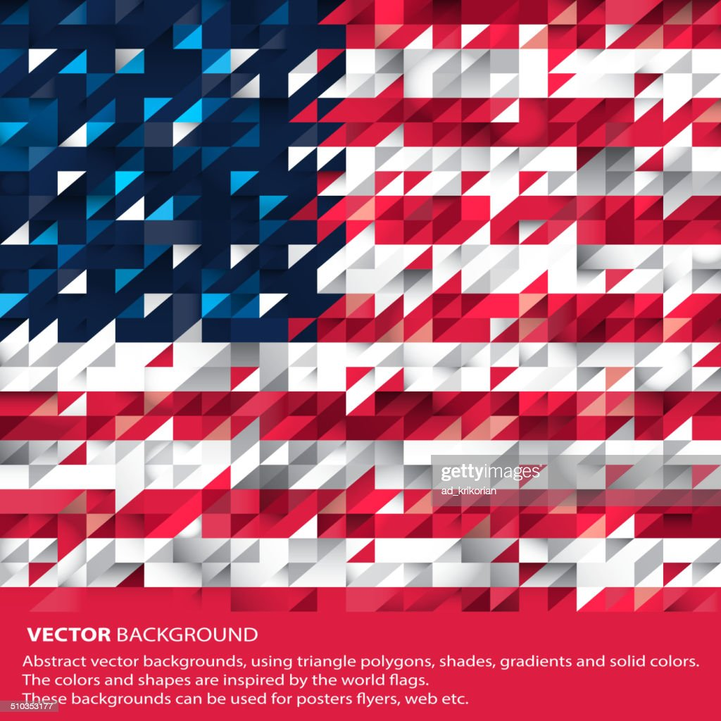 Abstract USA Background, American Flag (Vector Art)