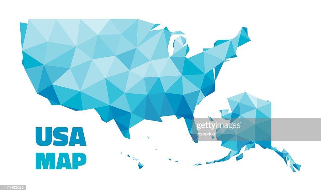 Abstract USA Map - vector illustration