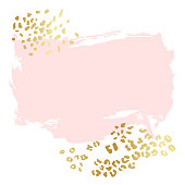 Abstract vector background, brush illustration. Pink ink brush stroke with rich exotic animal skin texture