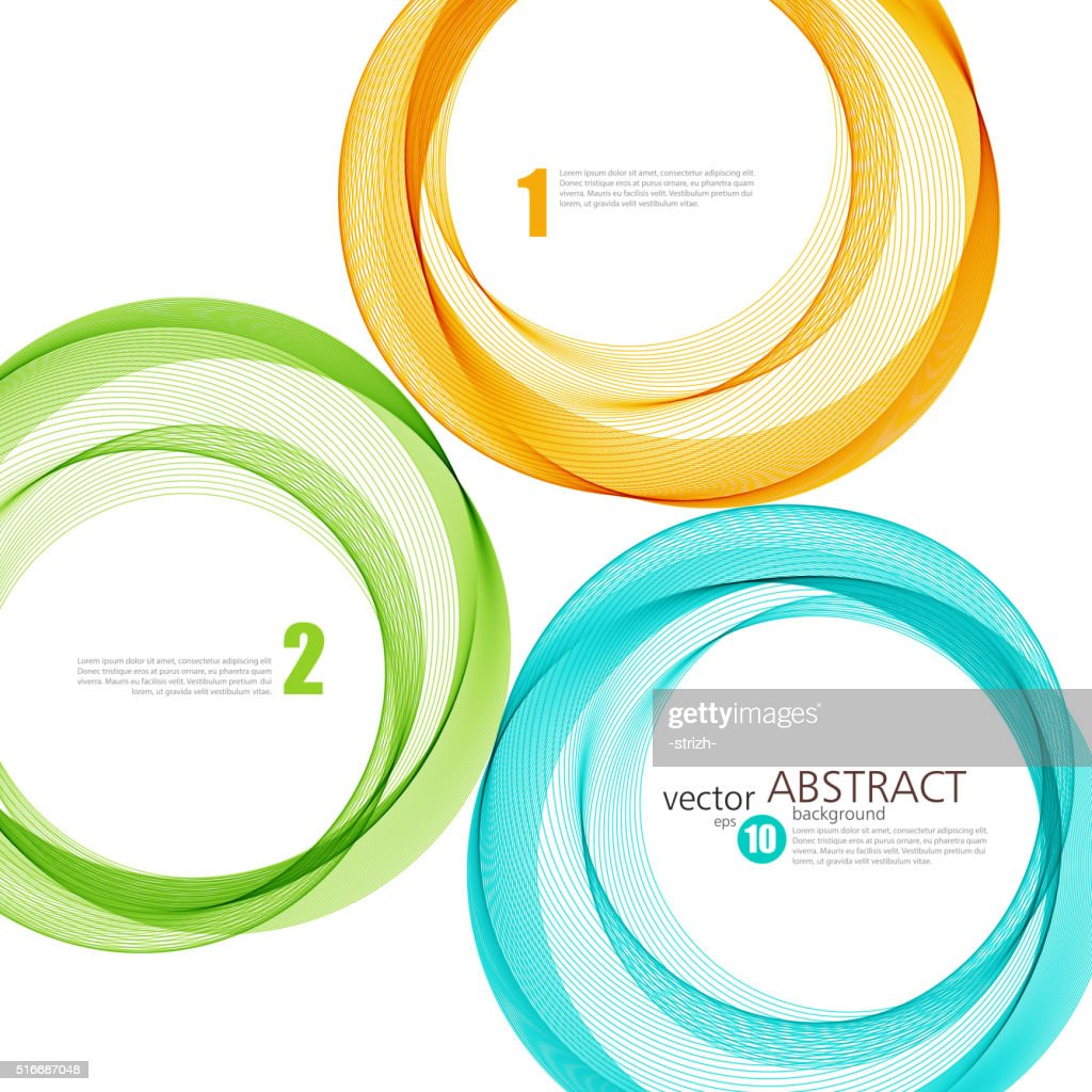 Abstract vector background, color ring