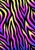 Abstract vector background with colorful zebra print. Holographic shiny gradient.