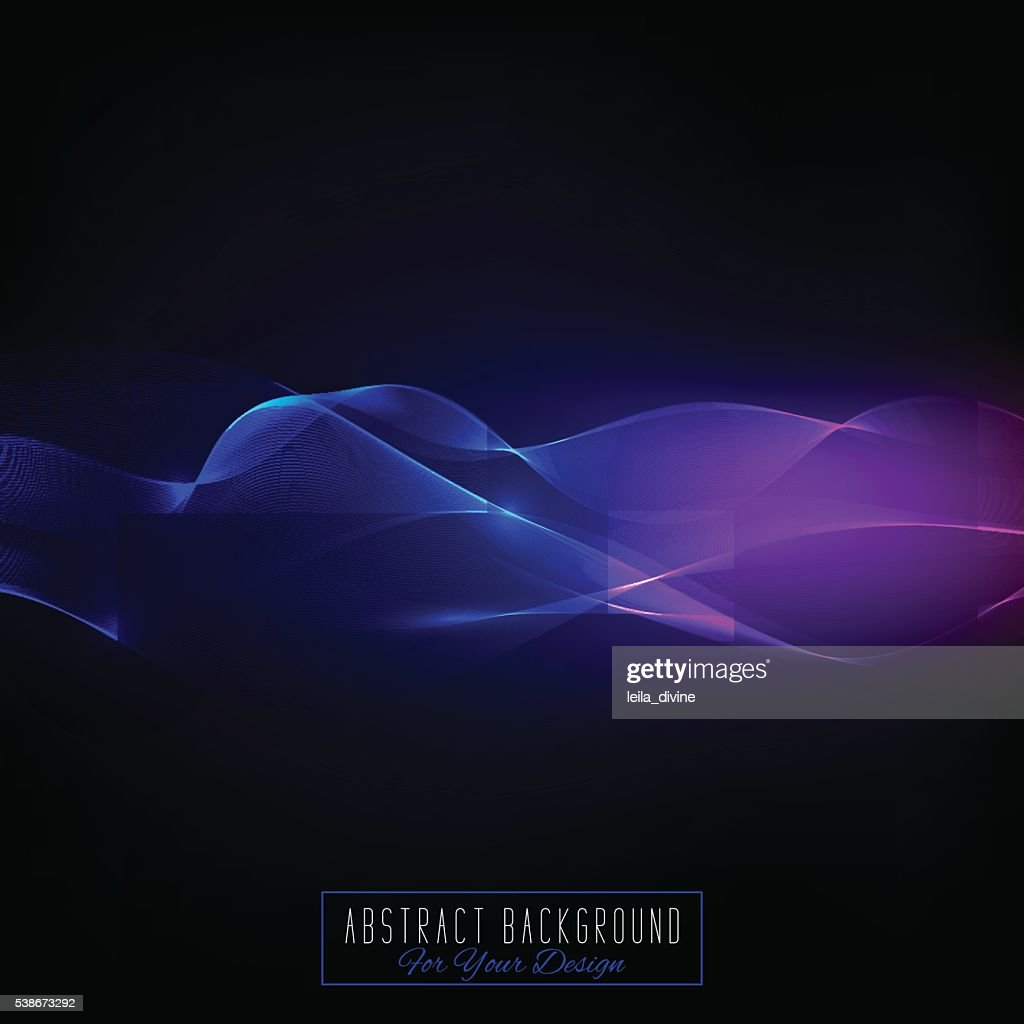 Abstract vector background with waved lines.