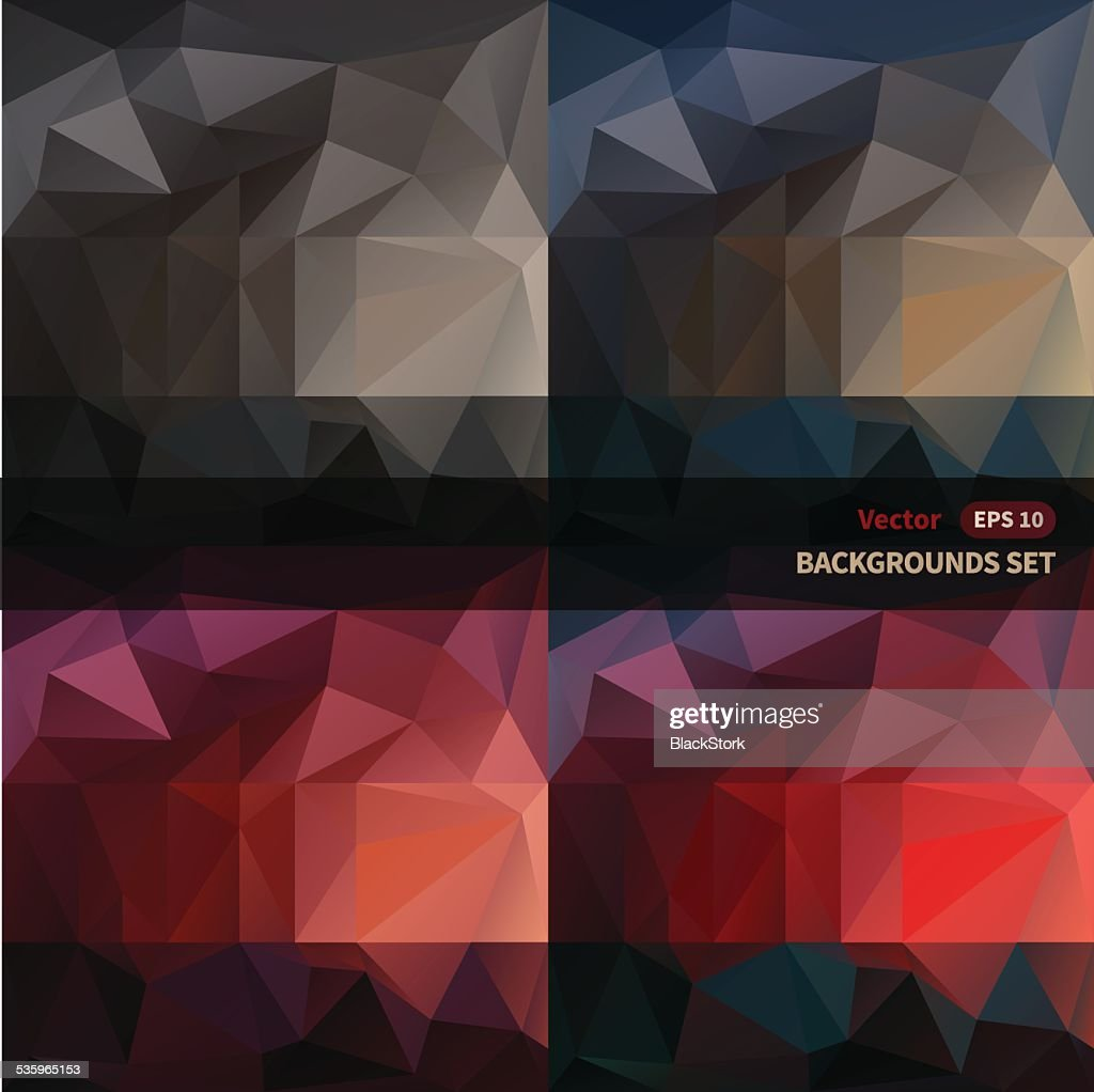 Abstract vector backgrounds set. : Vector Art