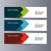 Abstract vector banner business background