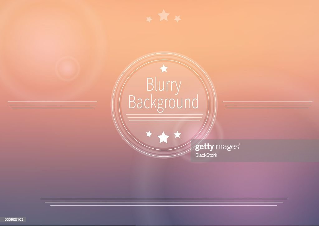 Abstract vector blurry background : Vector Art