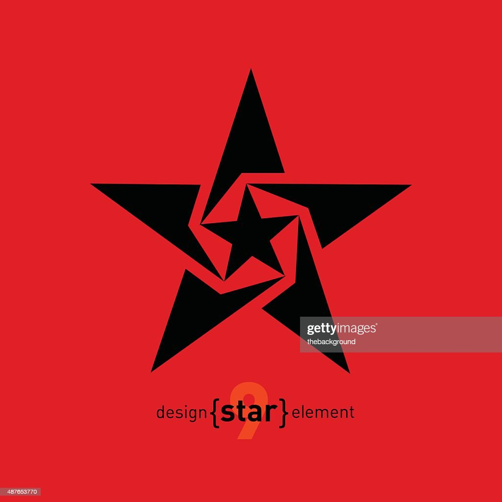 Abstract vector design element star