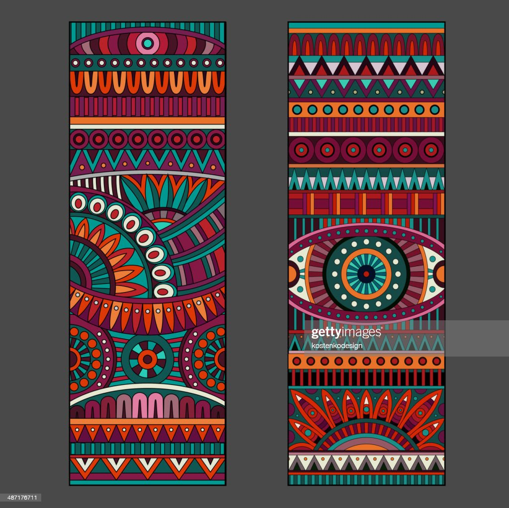 Abstract vector ethnic patterns