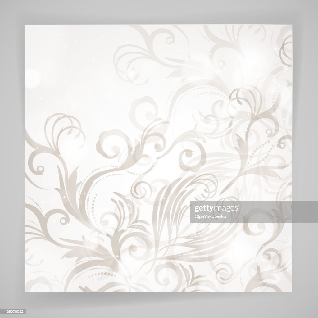 Abstract vector floral background with oriental flowers.