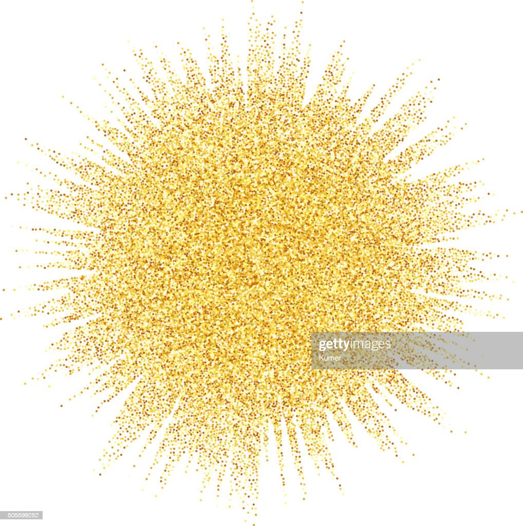 Abstract vector gold dust glitter star wave background