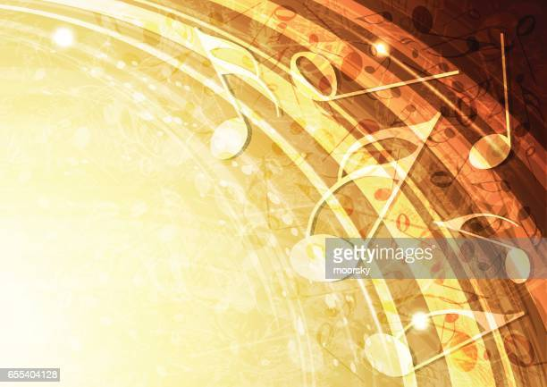 Abstract vector gold music background illustration