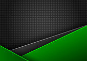 Abstract vector green and black background with space for text