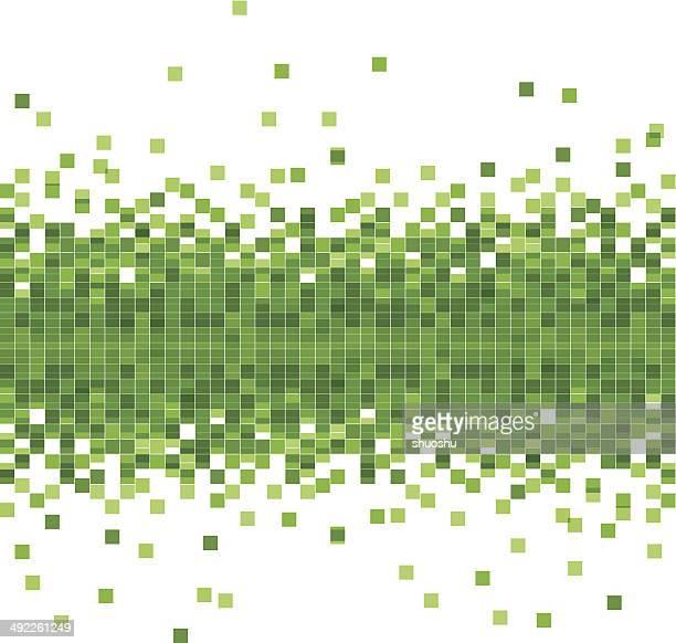 抽象的なベクトルの背景の緑の技術データ