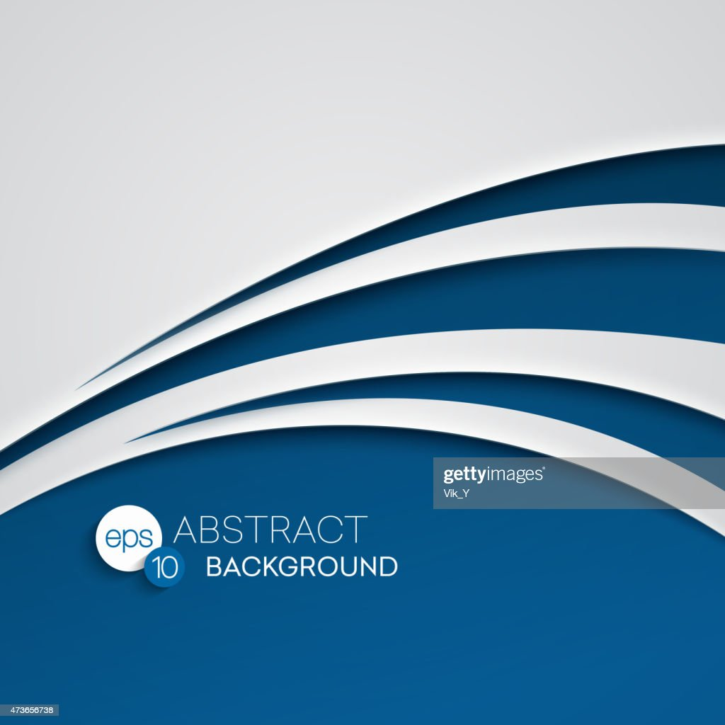 Abstract vector illustration background of a blue wave