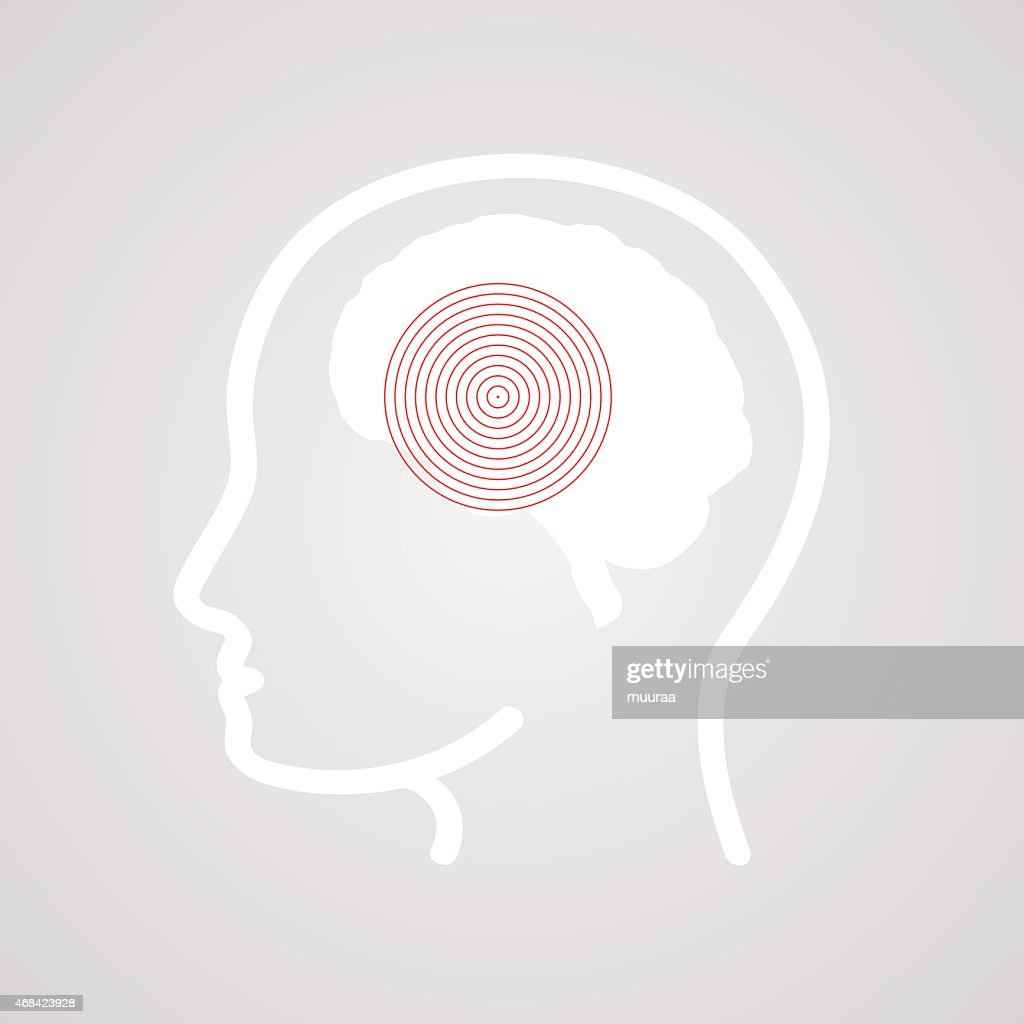 Abstract vector illustration of a concept of a headache