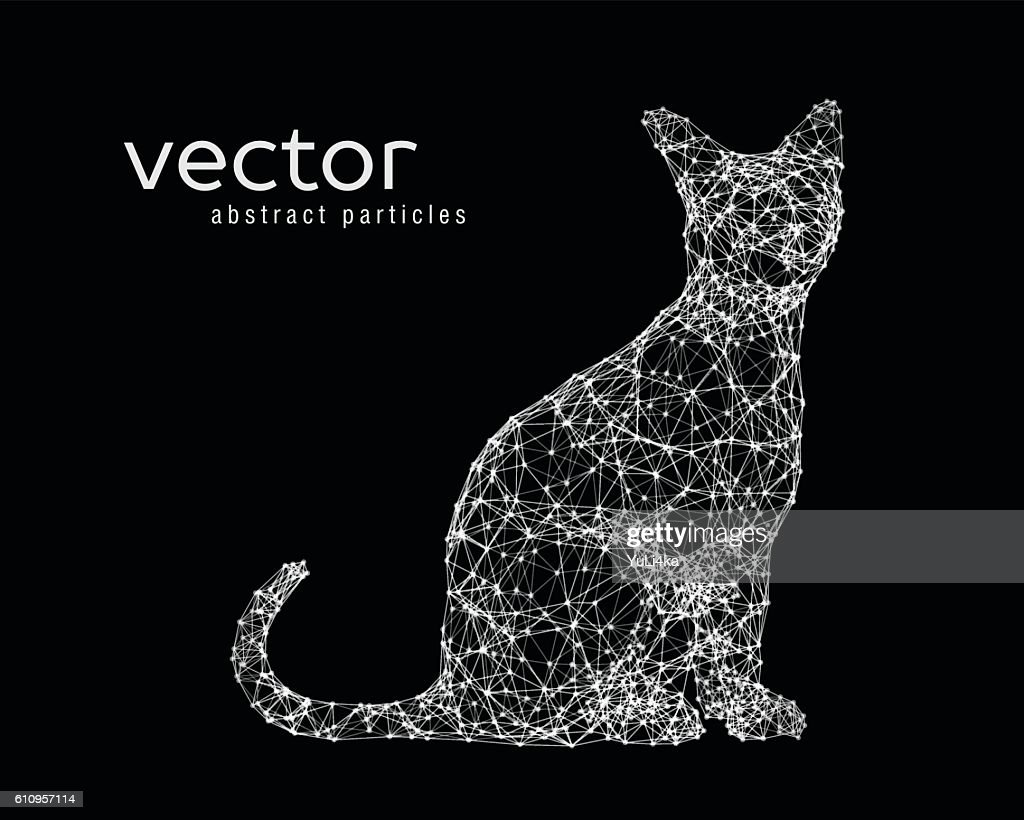 Abstract vector illustration of cat.