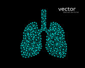 Abstract vector illustration of human lungs.
