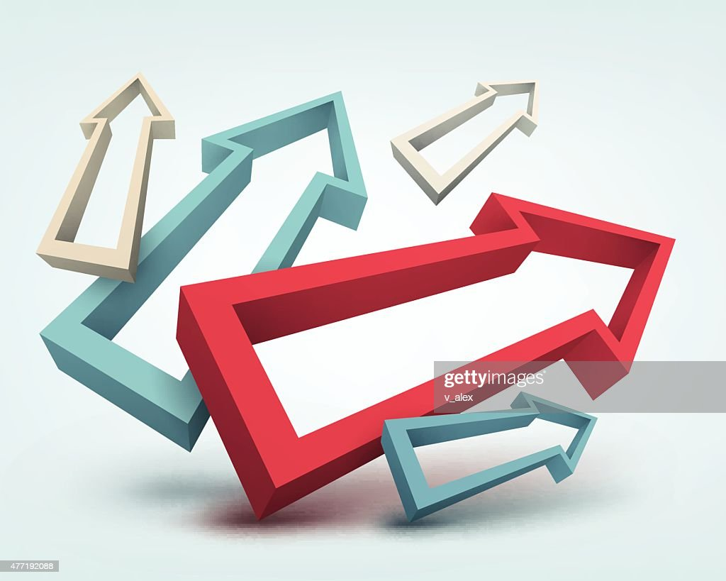 Abstract Vector Illustration With 3d Arrows And Place For