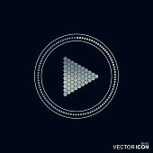 Abstract vector play icon