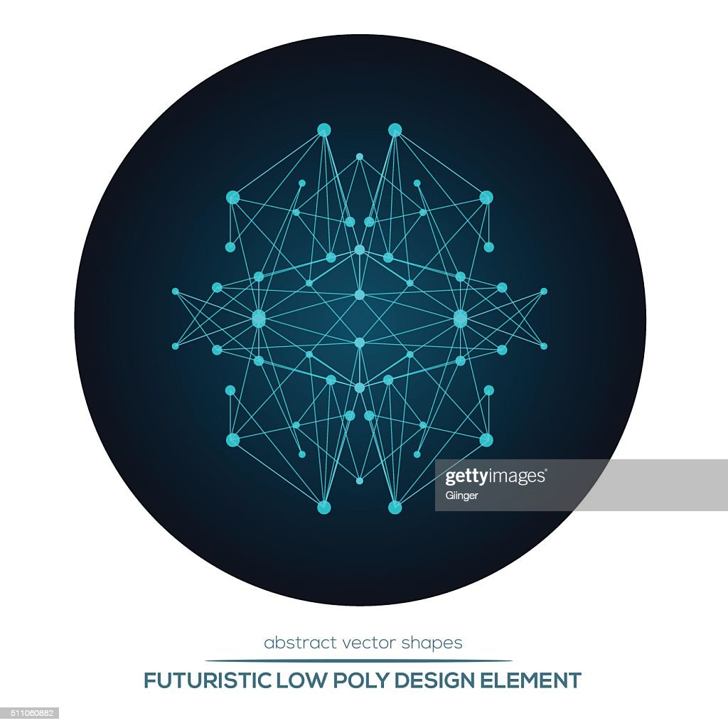 Abstract vector polygonal futuristic shapes