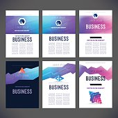 Abstract vector set template design