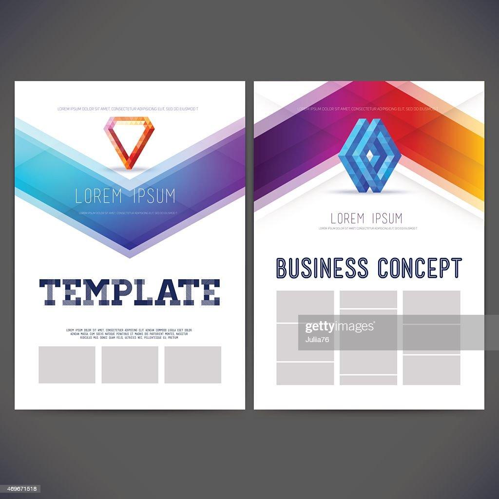 Abstract vector template design, brochure, flyer