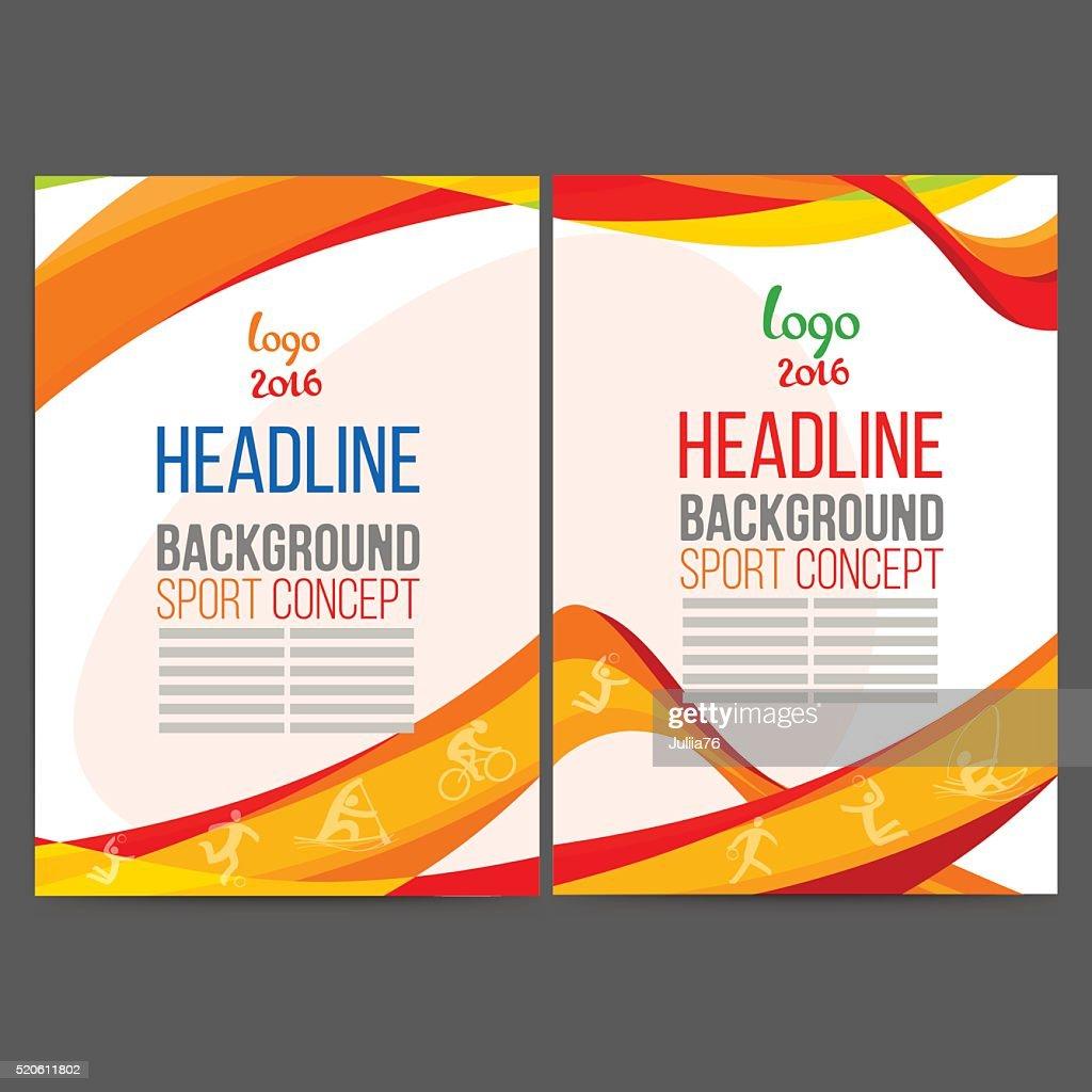 Abstract vector template design, brochure