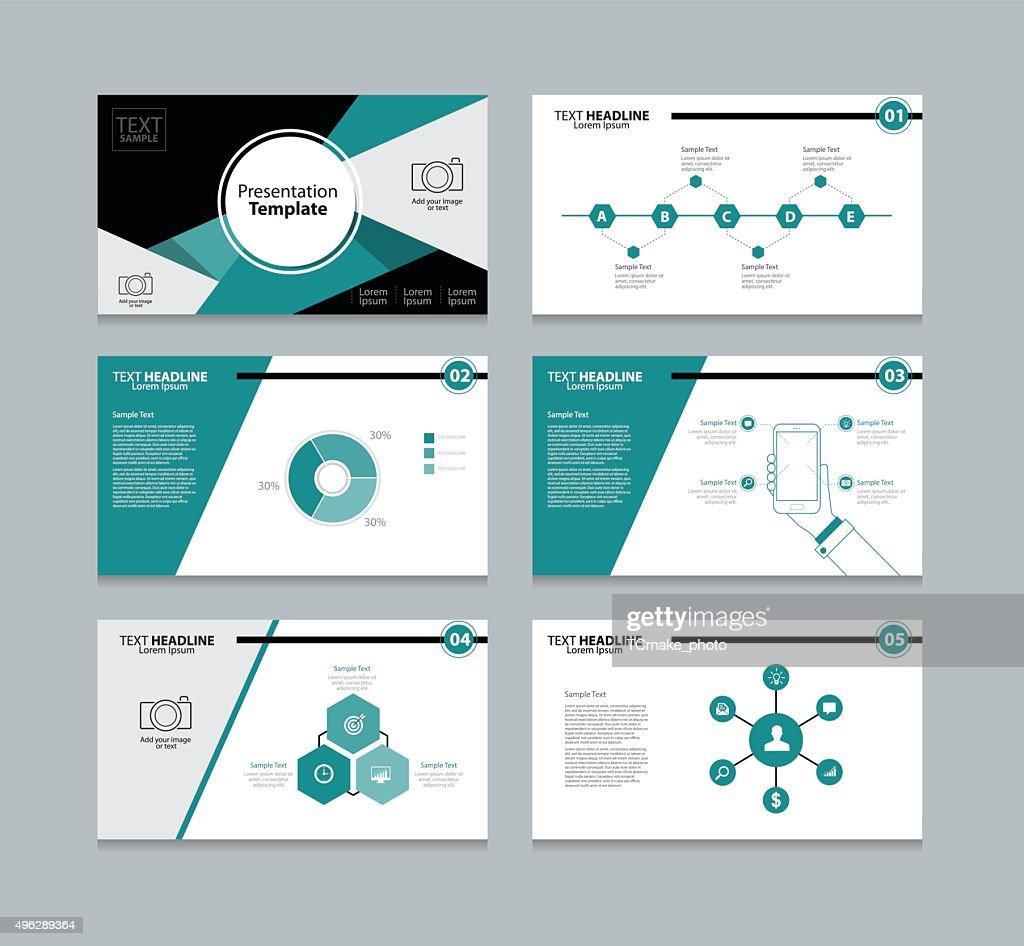abstract vector template presentation slides background design