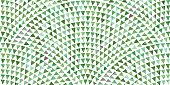 Abstract vector wavy seamless geometrical pattern from small triangles  with green brush stroke  texture on a white background. Floor tile, wallpaper, wrapping paper, page fill in ceramic mosaic style