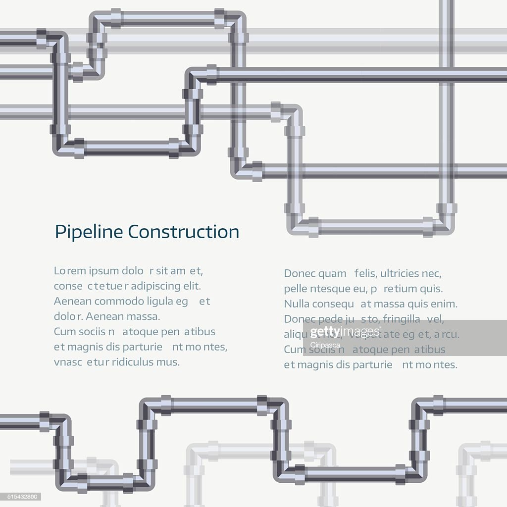Abstract vertical background with flat designed pipeline