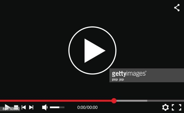 abstract video player interface - vector mockup - time line stock illustrations, clip art, cartoons, & icons