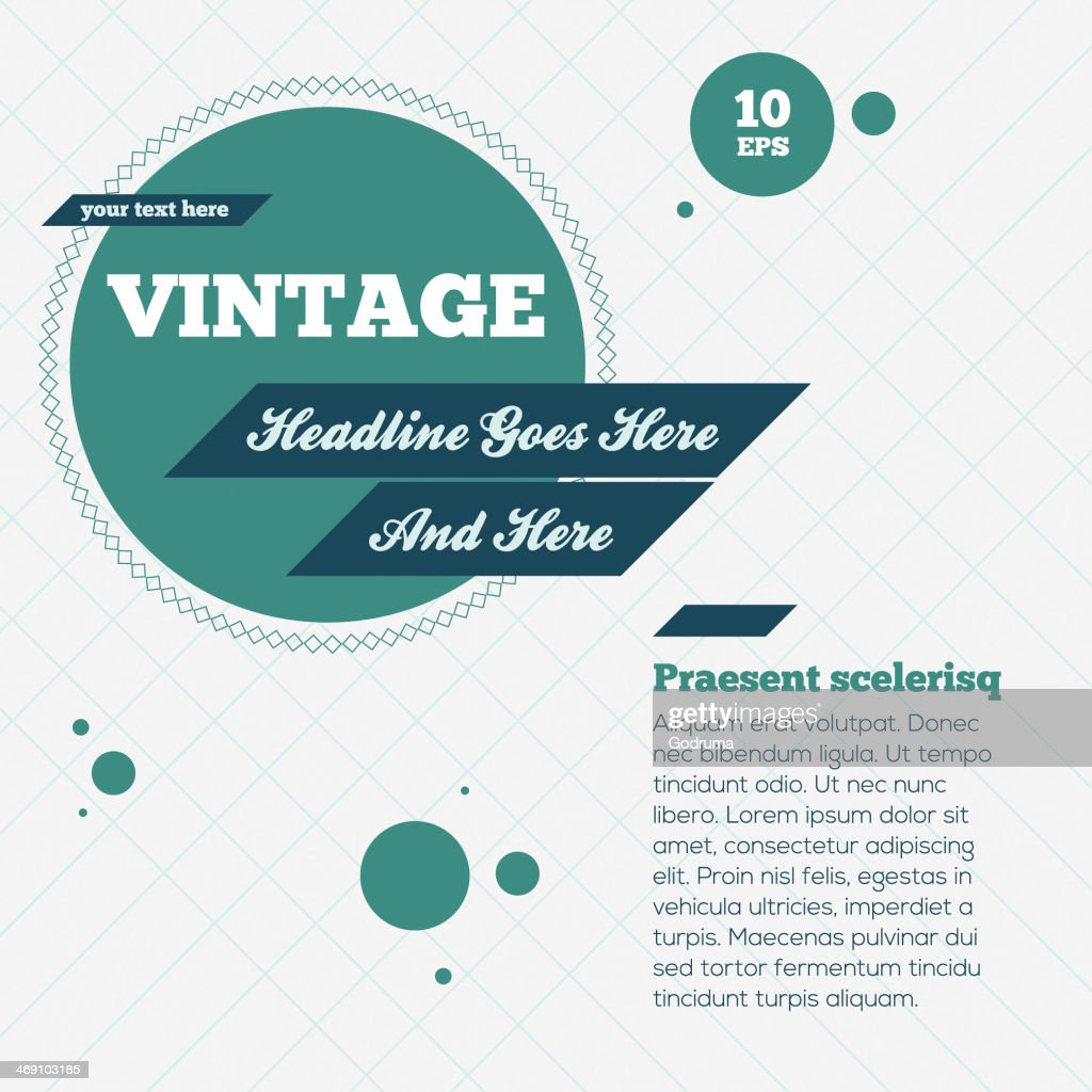Abstract Vintage Background. Vector Illustration