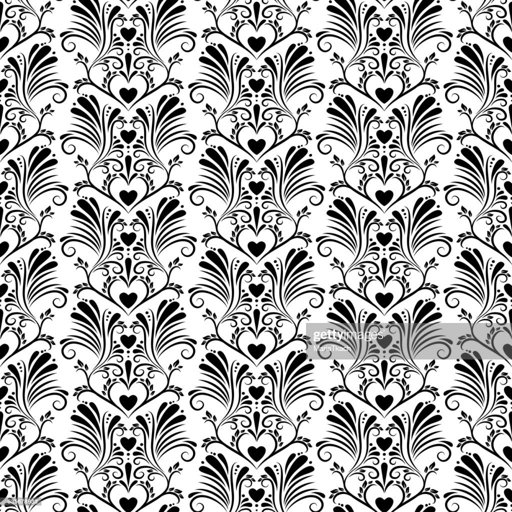 Abstract vintage floral seamless background