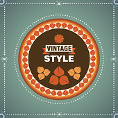 abstract vintage style banner background