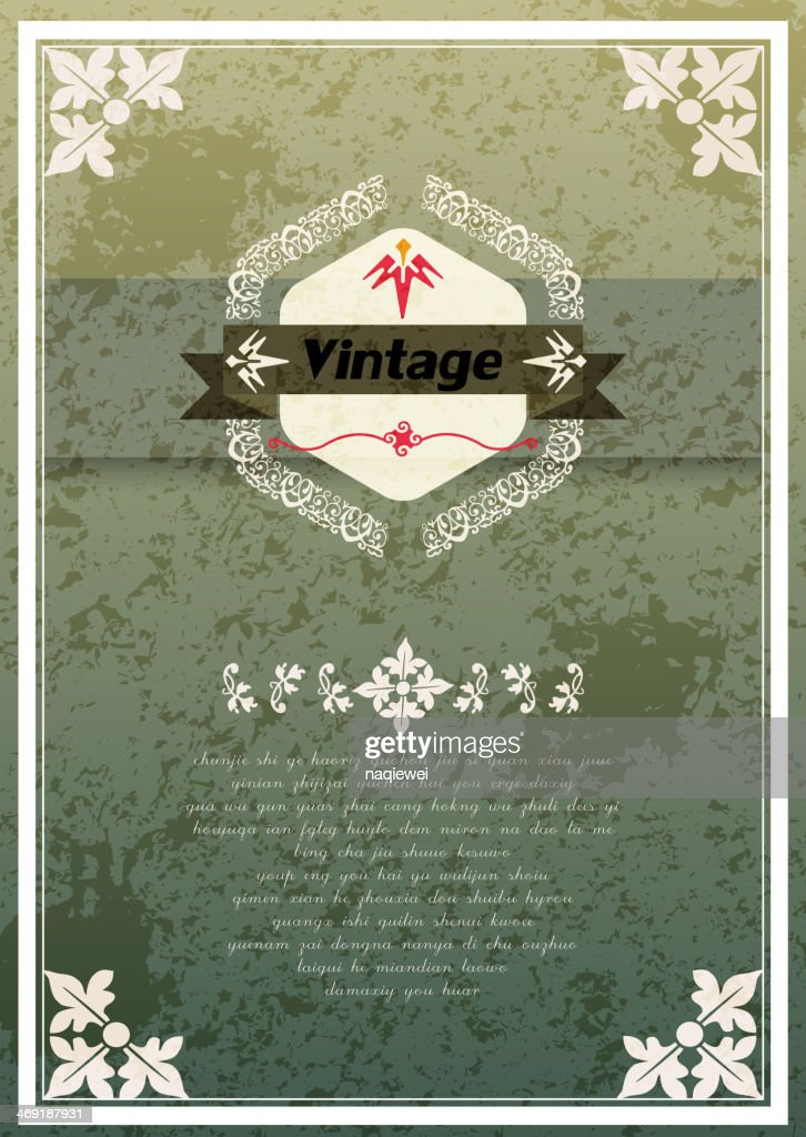 Abstract Vintage Style Banner With Floral Pattern Background