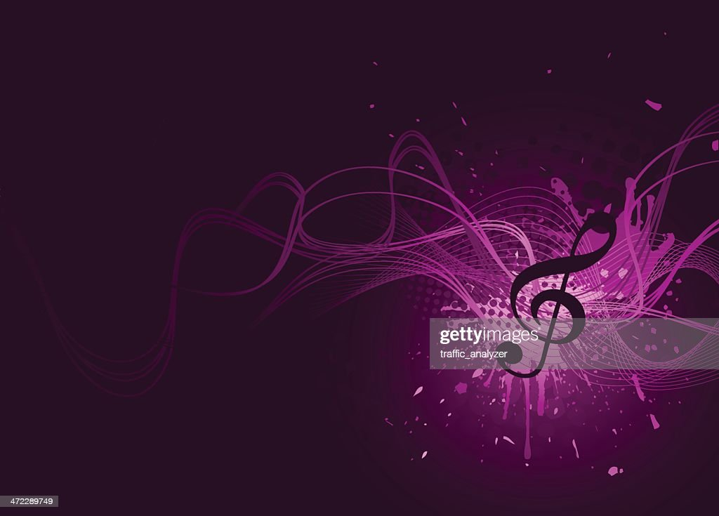Abstract violet music background : stock illustration