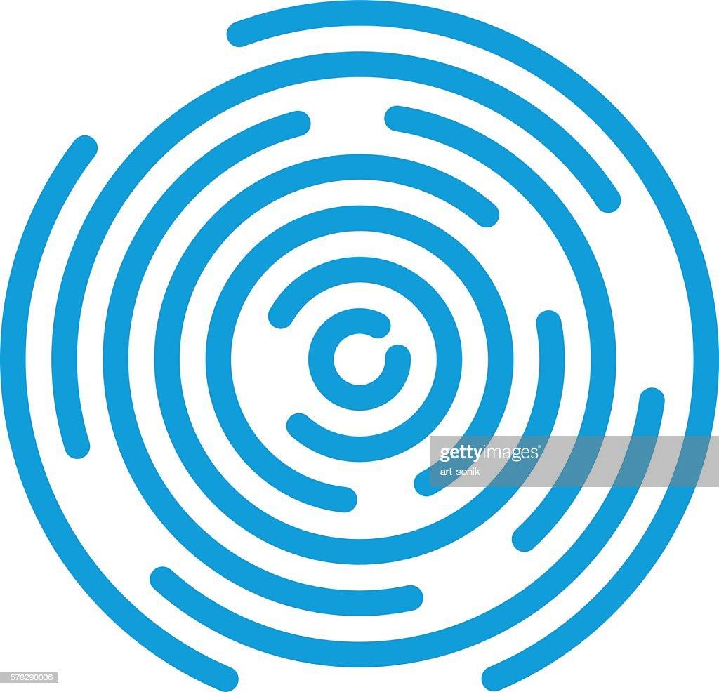 Abstract vortex line background