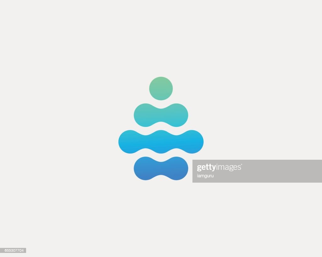 Abstract water aqua drop vector logo design. Water drop minimal space logotype.